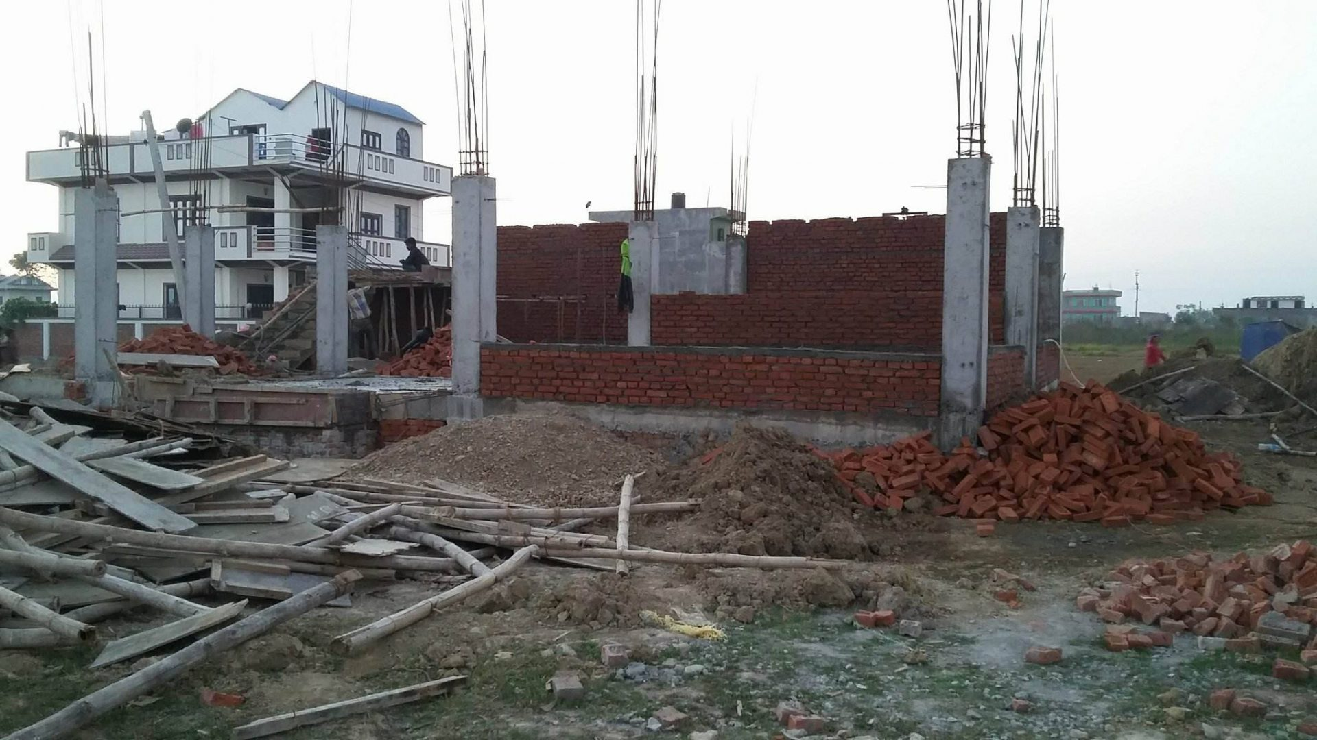 HImchuli school walls going up
