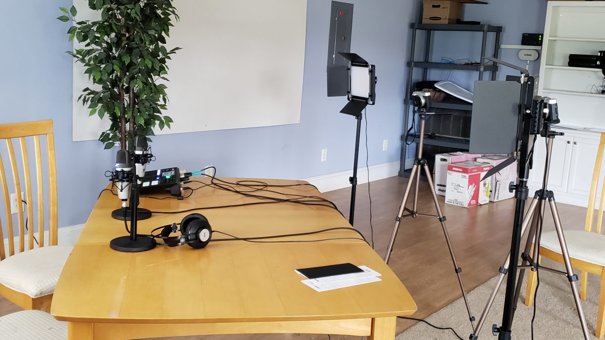 Threshold Academy's podcasting studio
