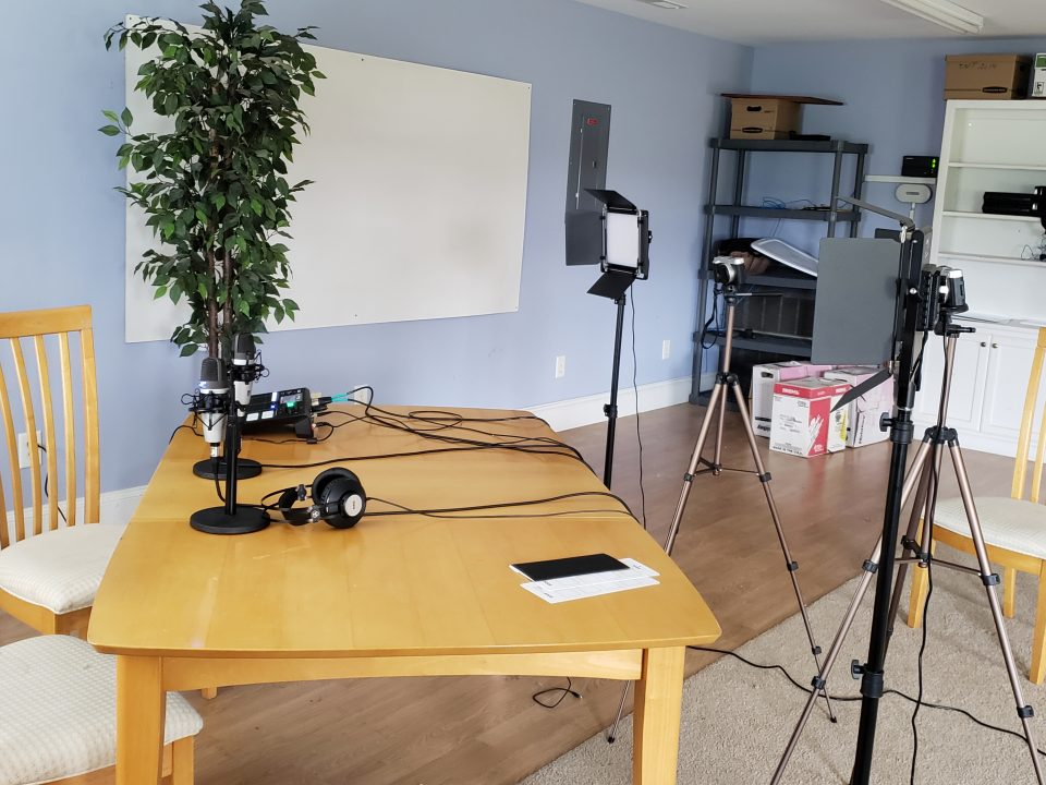 Threshold Academy's podcasting studio