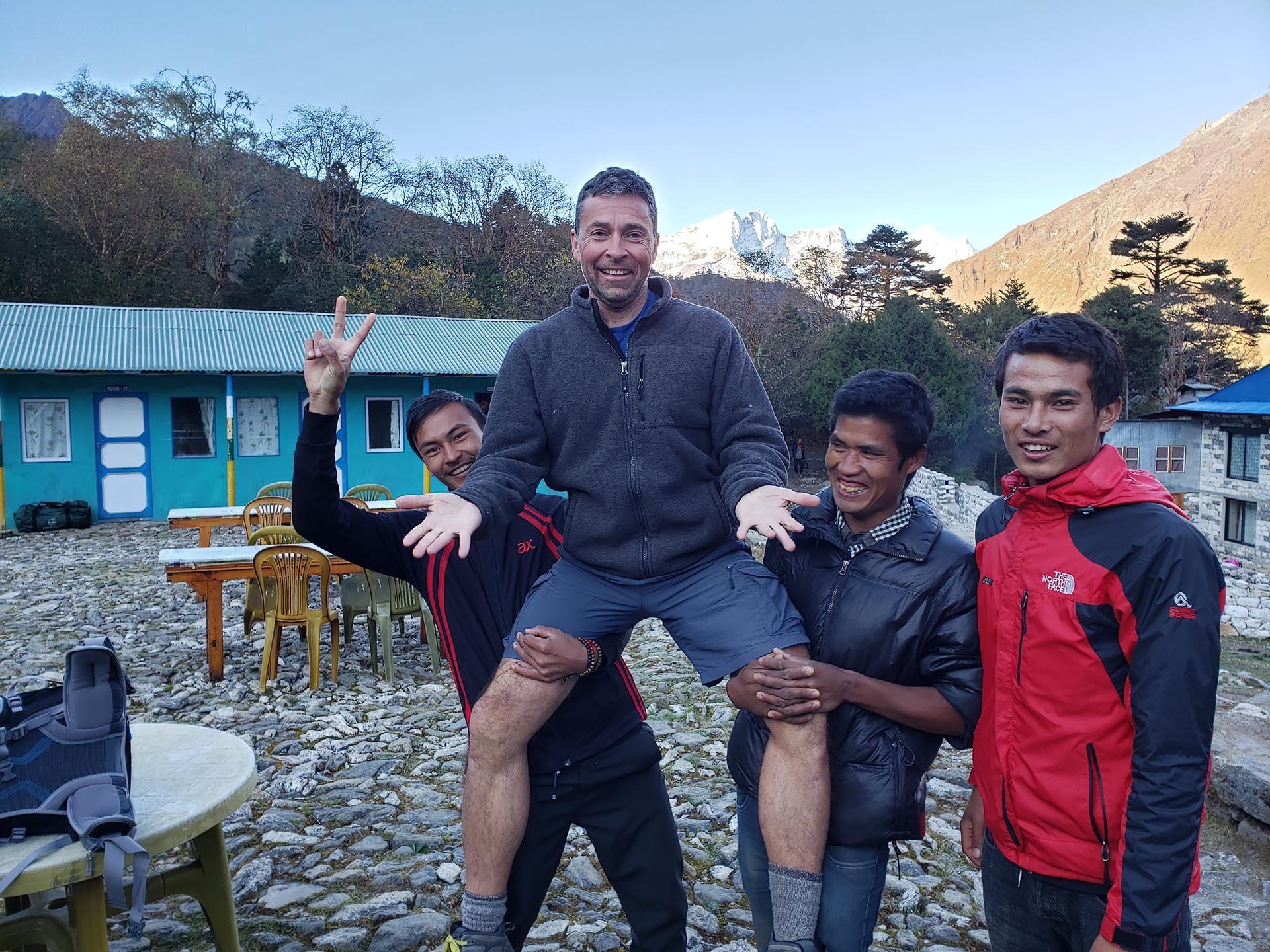 Jeff Gaura with porters