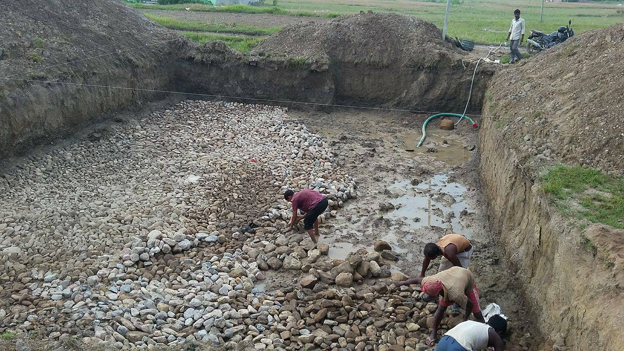 Footers for Himchuli School in the Dang Valley