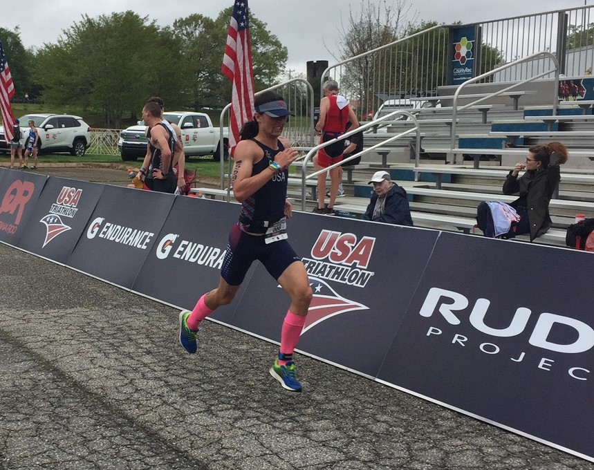 Alex Gaura running at the Duathlon National Championship 2019