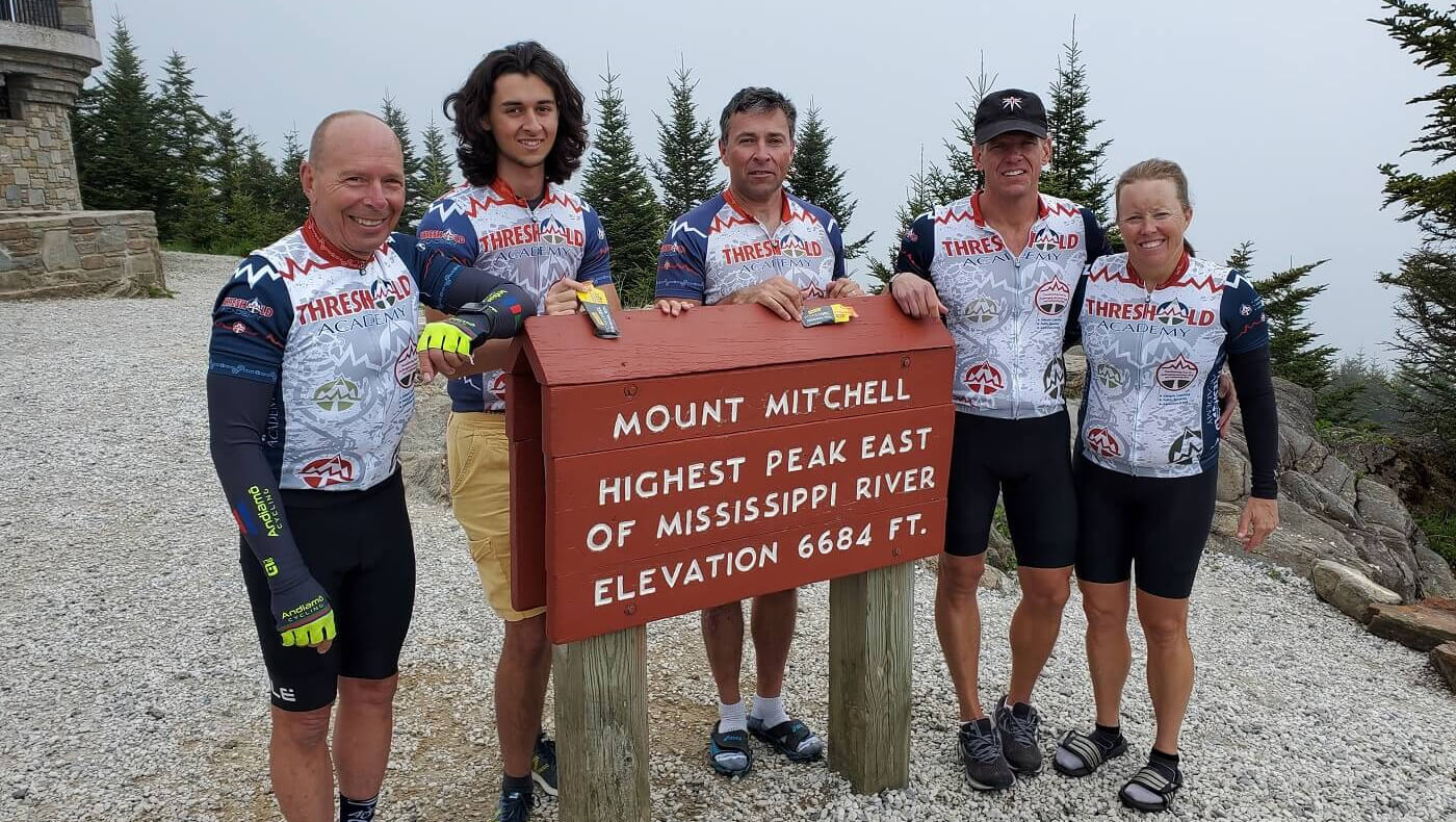 Cycling to the top of Mt. Mitchell