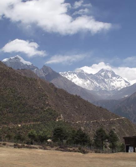 Himalayan Trekking - Trail in the Khumbu Valley of Nepal
