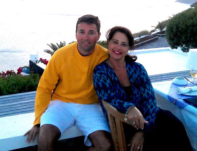 Jeff and Linda in Greece